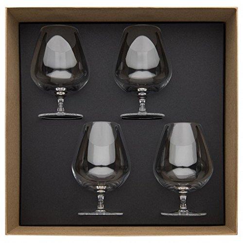 Guy Degrenne 206400 Cognac-Gläser, 610ml, 4-teilig