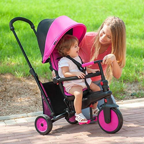 SMARTRIKE- smarTfold 300 Triciclo Plegable para bebé, Rosa, Color (5021200)