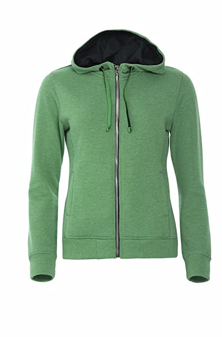 the best attitude 3ece8 03c24 Smartsupershop Felpa con Zip E Cappuccio Donna Colore Verde ...