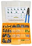 Delphi Weather Pack Connector Kit WP-155 With T-18: Sealed Weatherproof Automotive Electrical Connectors 20-12 Gauge 155 Piece Kit With Crimp Tool