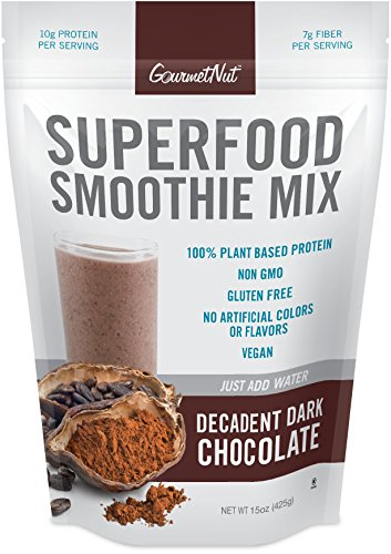 (Gourmet Nut Superfood Smoothie Mix, Decadent Dark Chocolate, 15 Ounce)