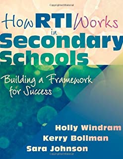 How RTI Works in Secondary Schools: Building a Framework for Success