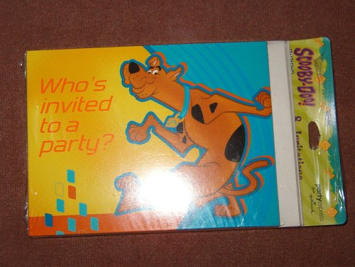 Scooby-Doo! 'Fun Times' Invitations w/ Envelopes (Scooby Doo Birthday Invitation)