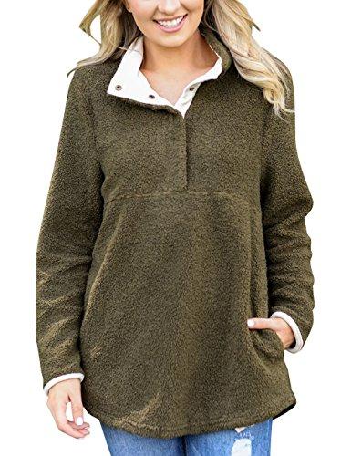 Fleece Army Pullover - 1