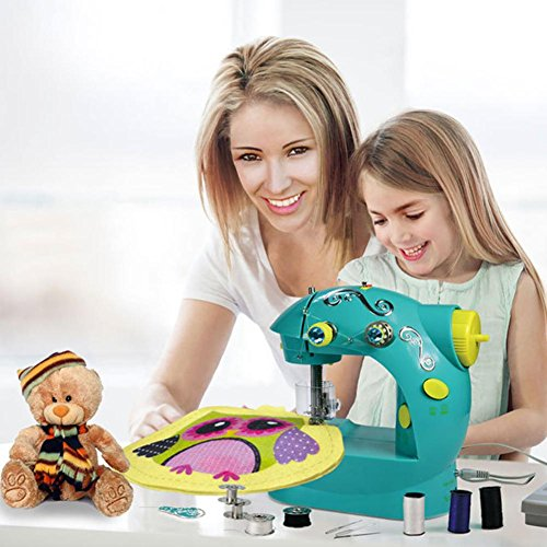 Mini Sewing Machine Multi-Function Household Electric Mini Small Portable Miniature Children's Toy Sewing Machine Without Board by foreverwen
