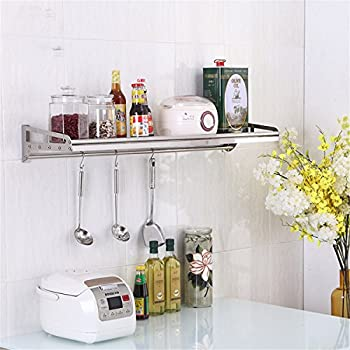 Wall Mounted Floating Shelves,304 Solid Stainless Steel Utility Storage  Shelf For Kitchen Microwave Oven