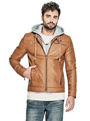 leather hooded jacket - 8