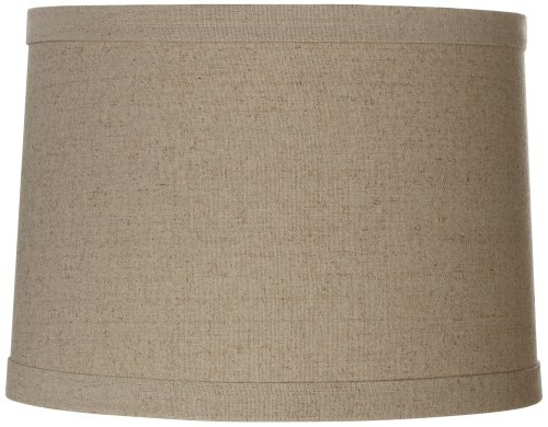 Linen Drum Shade 13x14x10 (Spider) (Natural Lamp Shades)
