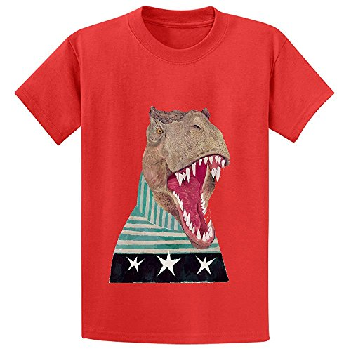 snowl-t-rex-teen-crew-neck-short-sleeve-tee-red