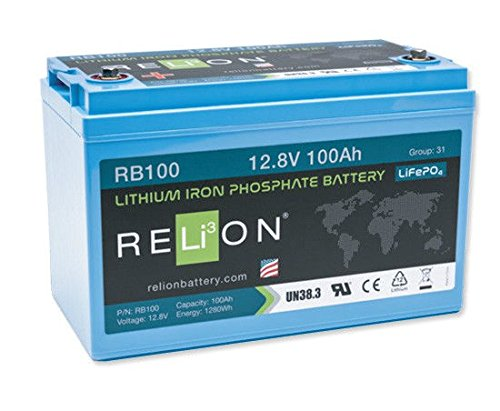 RELiON RB100 LiFePO4 100A 12 Volt Lithium Iron Phosphate Deep Cycle Battery