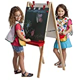 ECR4Kids Chalkboard and Dry-Erase Board Adjustable Art Easel with Paint Tray