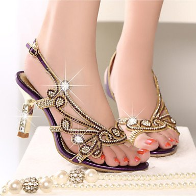 Club Pelle Stiletto Casual RTRY Oro UK7 Sandali Scarpe Strass Heel Donna In CN41 Summer EU40 Nappa Di Viola US9 qxxYtwv