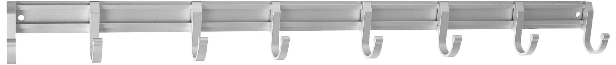 AIQIZI AR-QL322 Patent Non-Drill Wall Mount Coat Hat Towel Hook Rack, 8 Hooks Suction Type Creative Space Aluminum