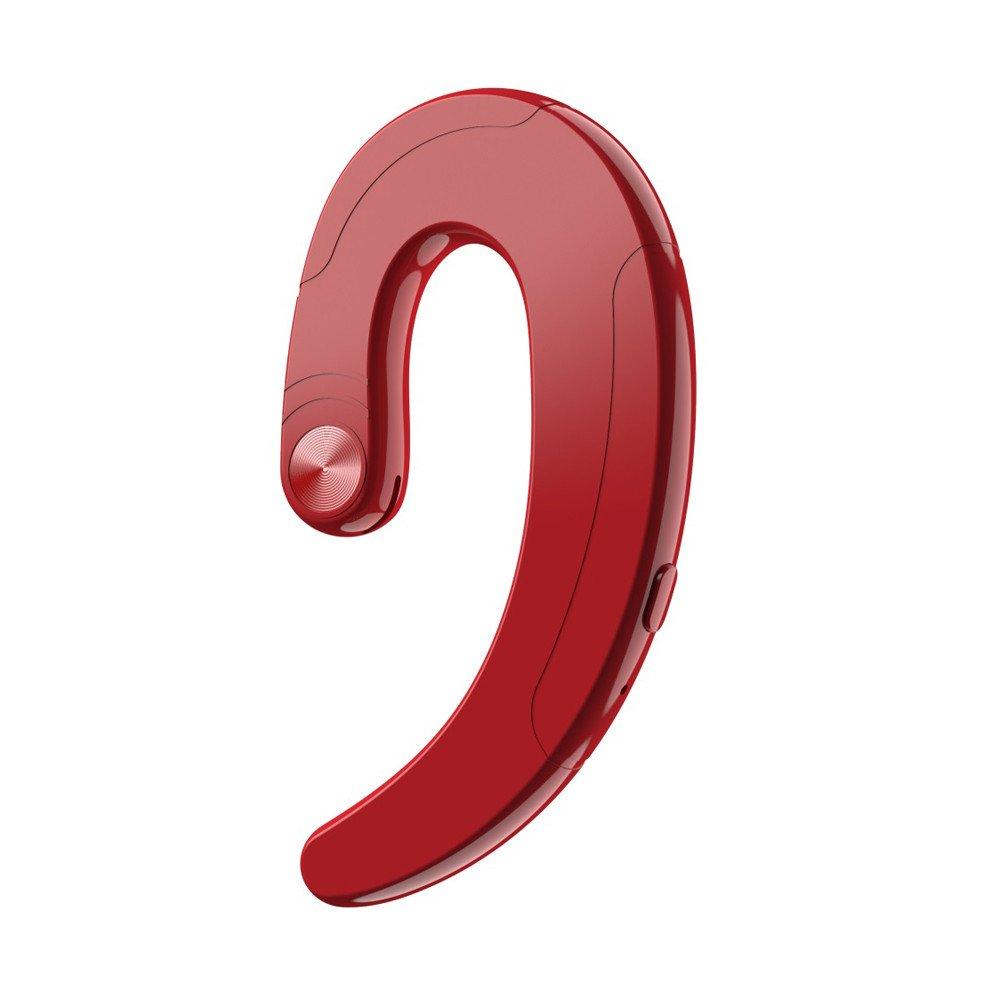 huoaoqiyegu - 2019 ワイヤレス BT 骨伝導イヤホン 防汗 スポーツヘッドセット マイク付き ジム ランニング トレーニング イヤホン ヘッドフォン Onesize レッド Prime Day Onesize レッド B07RC8LNCM