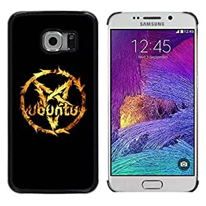Design for Girls Plastic Cover Case FOR Samsung Galaxy S6 EDGE pentagram star fire Linux cool OBBA