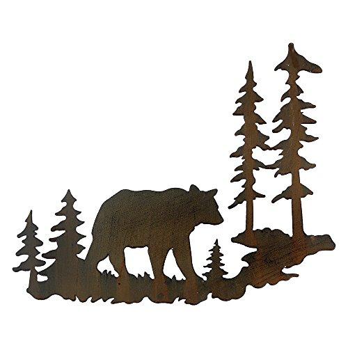 Black Forest Decor Woodland Bear Metal Wall Art
