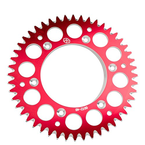 Primary Drive Rear Aluminum Sprocket 49 Tooth Red - Fits: Honda CRF150R 2012-2018 - Honda Aluminum Sprocket