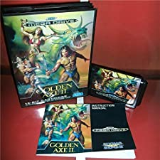 Golden Axe 2 EU Cover with Box and Manual For Sega Megadrive Genesis Video Game Console 16 bit MD card - Sega Genniess - Sega Ninento, 16 bit MD Game Card For Sega Mega Drive For Genesis