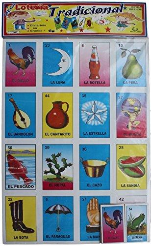 SUPER JUMBO LOTERIA MEXICAN BINGO LOTERIA CARDS GAME 25 X 18 by Mega Loteria