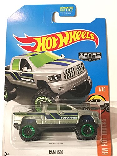 Hot Wheels 2017 HW Hot Trucks Dodge Ram 1500, Exclusive - Wheels Dodge Hot Ram