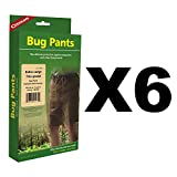 Coghlan's Bug Pants XL Black Unisex Flame Retardant Lightweight Net (6-Pack)
