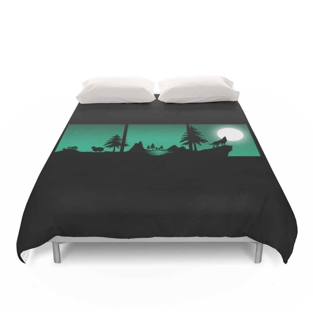 Society6 The Sheep And The Wolf In The Woods Duvet Covers Full: 79'' x 79''