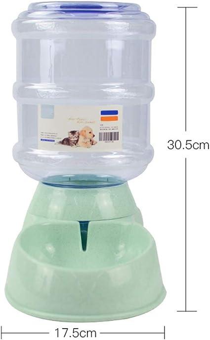 PET HOUSE Alimentador De Mascotas Automático De Alimentos Desmontable Botella De Agua Herramienta De Alimentación Inteligente para Perros Gatos, 3.8L,Green,WaterDispenser: Amazon.es: Deportes y aire libre