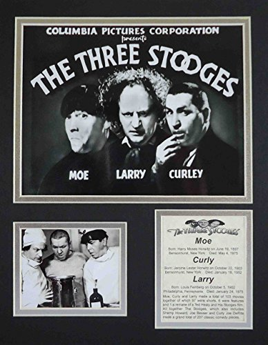 """The Three Stooges - Marquee 11"""" x 14"""" Unframed Matted Photo"""