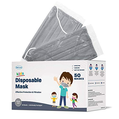 Individually wrapped kids face masks
