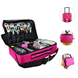 trolley bag makeup - Samtour Makeup Bags Travel Large Makeup Case 16.5