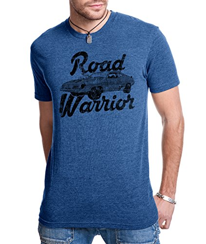Road Warrior T Shirt Cool Vintage Movie Classic Car Racing Tee (blue) M