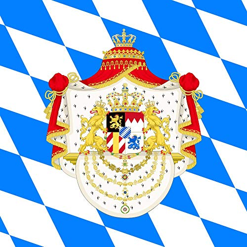 - magFlags Large Flag Royal Standard of The King of Bavaria | 1.35m² | 14.5sqft | 120x120cm | 45x45inch - 100% Made in Germany - Long Lasting Outdoor Flag