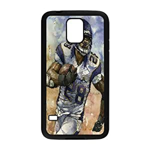 Yearinspace Adrian Peterson Watercolor Case For Samsung Galaxy S5 Non Slip, Samsung Galaxy S5 Case Case For Teen Girls Protective With Black