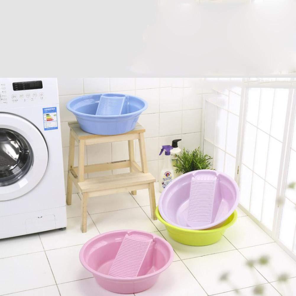 Portatile Welcometo Lavabo in plastica con Washboard Vasca di Lavaggio addensata per Il Lavaggio di Biancheria Intima per Neonati