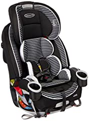 Graco 4Ever 4-in-1 Car Seat gives you 10 years with one car seat. It's comfortable for your child and convenient for you as it transitions from rear-facing infant car seat (4-40 lbs.) to forward-facing 5-point harness seat (22–65 lbs.) to hig...