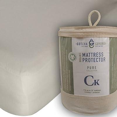 Gotcha Covered Pure 100/% organic GOTS cotton King mattress protector