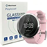 Exuun (2-Pack) Suunto 3 Fitness Tempered Glass Screen Protector,9H Premium Real Tempered Glass Screen Protector 2.5 D…