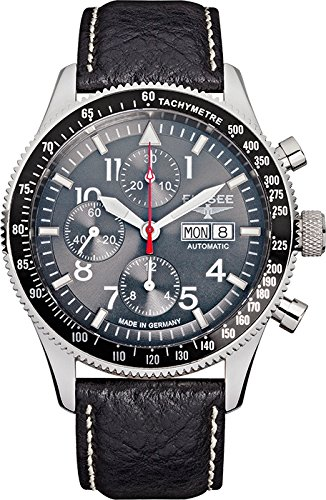 ELYSEE Men's 80530GREY Executive-Edition Analog Display Automatic Self Wind Black Watch