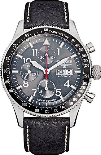 ELYSEE Men's 80530GREY Executive-Edition Analog Display Automatic Self Wind Black Watch