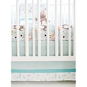 My Baby Sam Forest Friends 3 Piece Crib Bedding Set