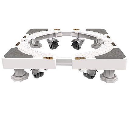 DSHBB Base para Lavadora, Base Ajustable Multifuncional Universal con Ruedas, Base De Acero Inoxidable