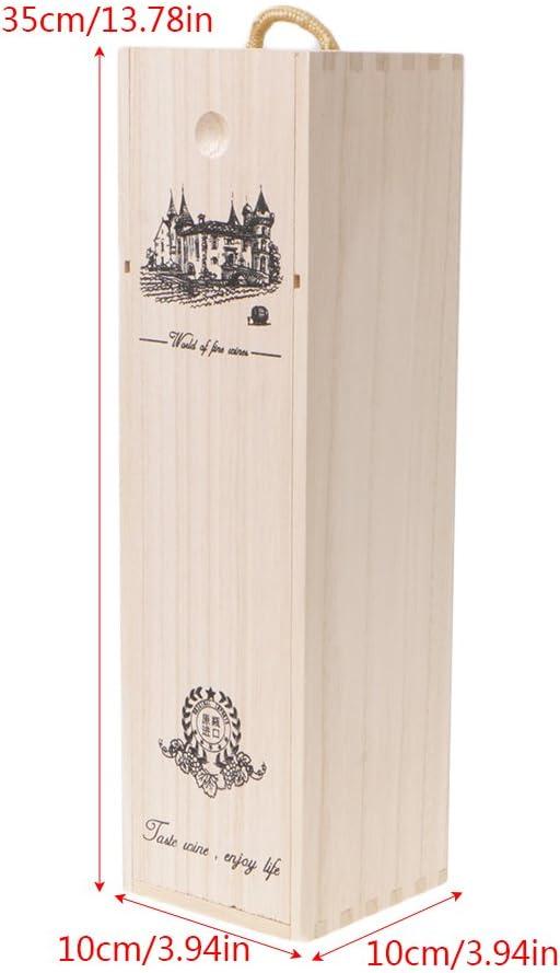 SimpleLife Caja de Embalaje de Regalo Medida con Madera de Pino y Vino Tinto.: Amazon.es: Hogar
