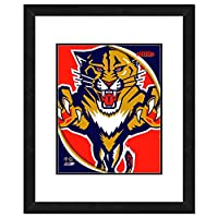 "NHL Florida Panthers Team Logo Double Matted & Framed Photo, 18"" x 22"", Multicolor"