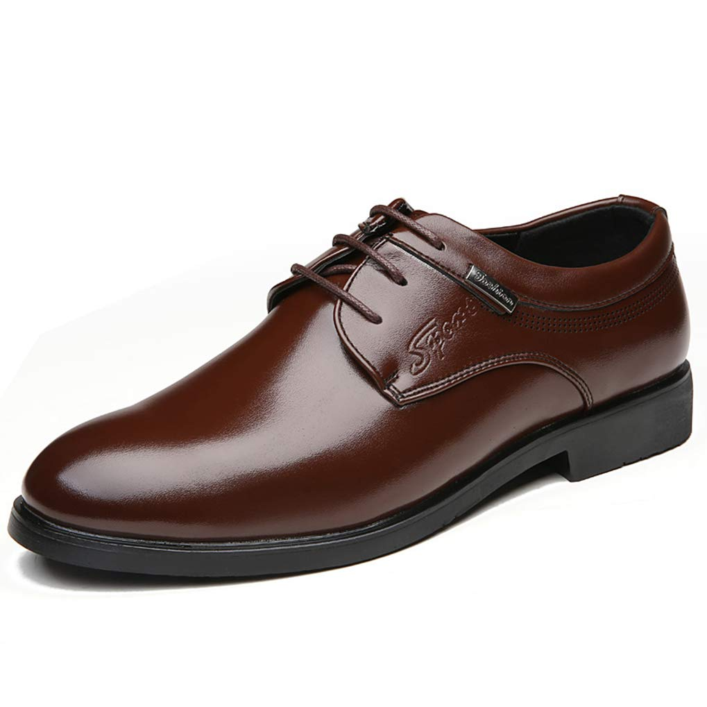 Starttwin Men's Formal Shoes Pointed Lace Up Comfortable Business Dress Oxford Shoes