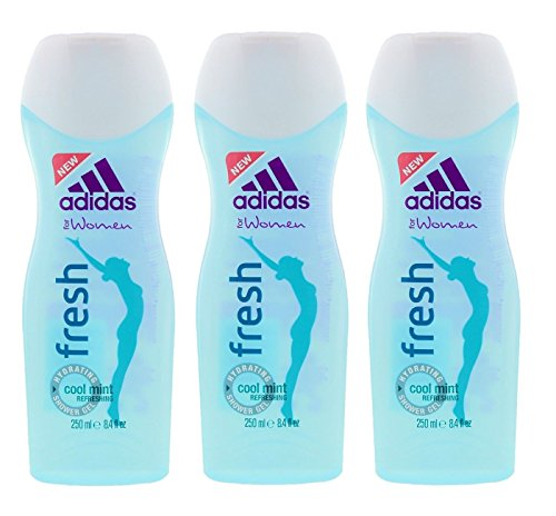 Adidas Gel Shower Gel (Adidas for Women Fresh Hydrating Shower Gel 8.4 fl oz. (Pack of 3))