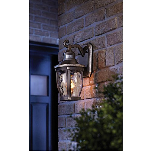 Avenue Lighting McCarthy 1-Light Bronze with Gold Highlights Outdoor Motion Sensor Wall Lantern - Madison Wall Lighting