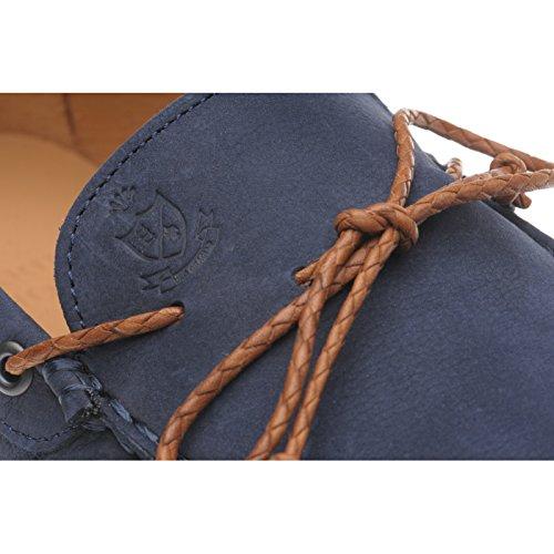HerringHerring Bolzano - botas sin cordones hombre Azul - Navy Nubuck