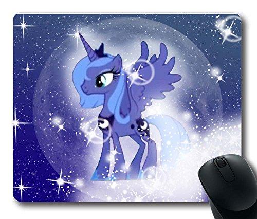 Gaming Mouse Pad, customized Mousepads princesa Luna My Little Pony diseno duradero de caucho natural antideslizante Eco escritorio papeleria accesorios Regalos para raton almohadil