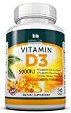 Vitamin D3 5,000 IU 240 Softgels By Hamilton Healthcare, All Natural, Effective and Safe Supplement That Supports Bone, Muscle, Breast, Prostate, Dental As Well As the Immune System