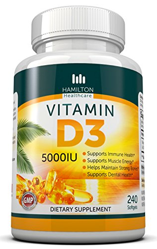 Insta Supplement Magazine: Vitamin D3 5,000 IU 240 Softgels By Hamilton Healthcare